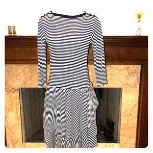 Lauren Ralph Lauren Black & White Striped Dress